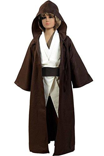 Kinder Tunika Robe / Umhang mit Kapuze Gr. M, (Kostüme Jedi Jungen)