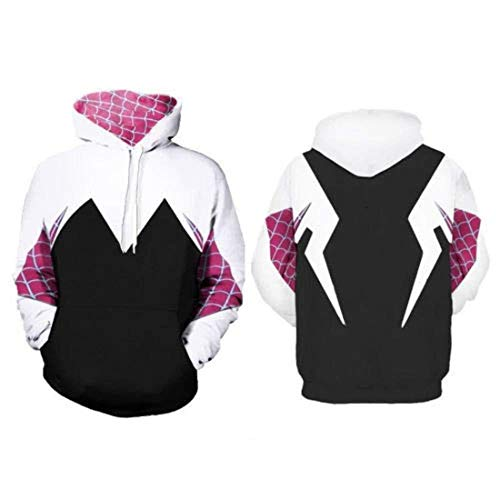 Gwen Stacy Spider-Man PS4 Iron Spider Pullover Hoodie Sweatshirt Kangaroo Pocket (Groß) ()