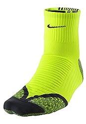 Nike Elite Cushion Quarter Running Socks (1 Pair) Unisex-Size 12-13.5 (30-31.5 cm)