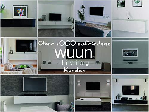 Wuun TV Board hängend/8 Größen/5 Farben/100cm Matt Weiß- Beton/Lowboard Hängeschrank Hängeboard Wohnwand/Hochglanz & Naturtöne/Somero Bild 3*