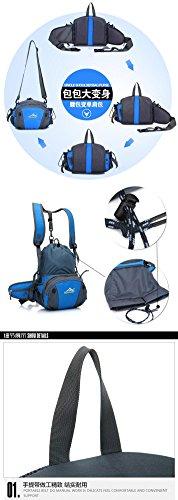 FFZH Loro arrampicata zaino impermeabile, zaino di grande capacità equitazione, tasche multifunzione sport all'aria aperta , red blue