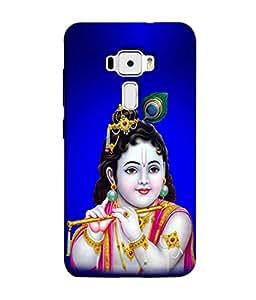 Fuson Designer Back Case Cover for Asus Zenfone 3 ZE520KL (5.2 Inches) (Lord God Drawka Bansuri Gopi Gopala)