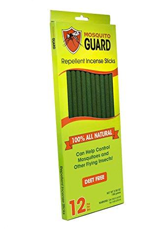 Mosquito Guard- Bâtons d'encens répulsifs pour moustiques - Bâtons d'encens de 30cm répulsifs aux insectes 100% naturel