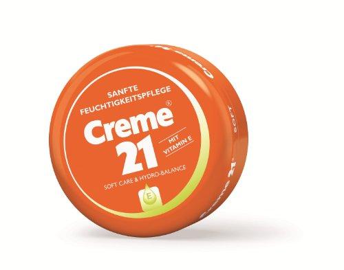 Creme 21 Sanfte Feuchtigkeitspflege,Tiegel, 4er Pack (4 x 250 ml)
