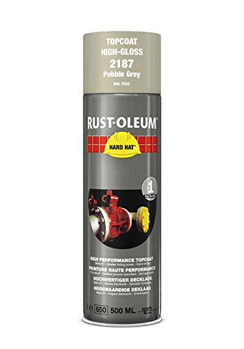 Rust Oleum RUST-OLEUM 2187 Hard Hat Topcoat Ral-Colours, The Nr. 1 Industrial Paint Aerosol. Go Further, Work Faster, Last Longer!, Pebble grey-RAL 7032