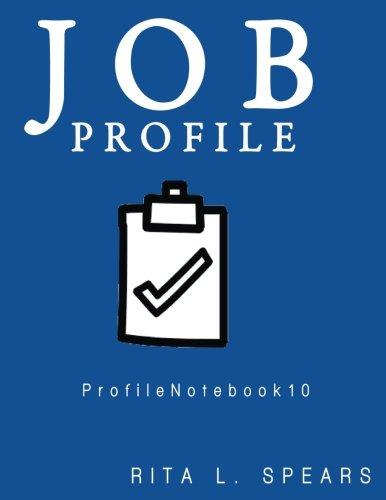 Job Profile: personal planner,personal data keeper,student planner,schedule planner,organizer book planner (ProfileNotebooks)