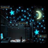 100 Adet Fosforlu Yıldız Ay Gezegen Gökyüzü Karanlıkta Parlayan Çocuk Odası Duvar Tavan Süsü Sticker