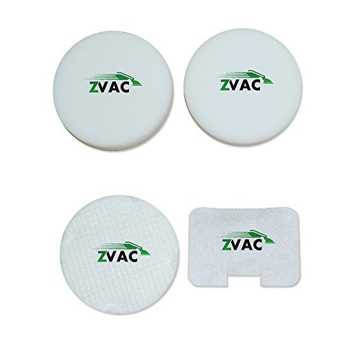 Echte Ersatz-filter (Shark NV22L Navigator Ersatz Schaumstoff und Filz 4Stück Echtes Filter-Kit hergestellt von zvac)