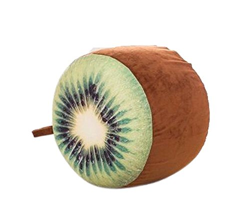 Fresh Fruit Plüsch-aufblasbares Hocker Tragbare Falten, nette Kiwi