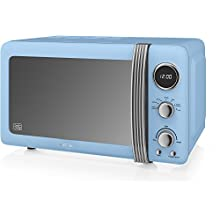 Swan Retro Digital Microwave, 800 W, Blue