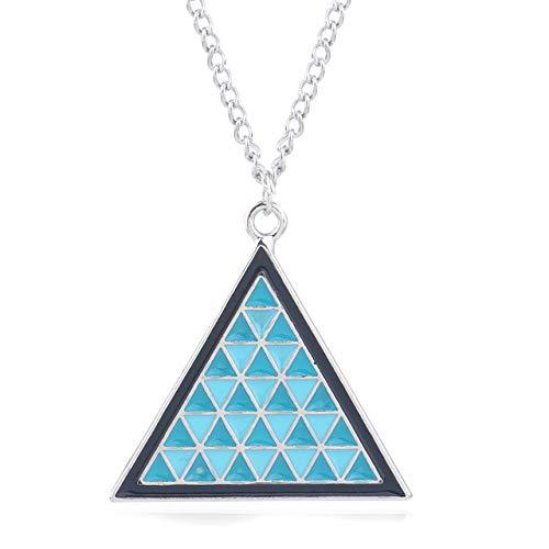 Detroit Werden Menschliche Halskette Anhänger Legende Von Zelda Blau Dreieck Triforce Schild Auto Schlüsselanhänger Männer Frauen - Vater Zu Werden Kostüm