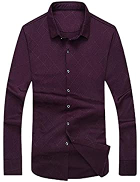 Camisa De Hombre Camisa De Manga Larga De Gran Tamaño Camisa De Camisa De Negocio Camisa De Otoño E Invierno Camisa