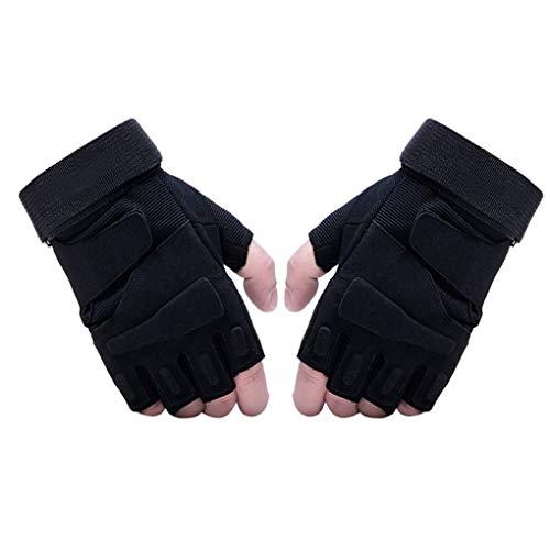 Bobury Männer Frauen einen.Kreislauf.durchmachenreiten Fitness-Handschuhe Anti-Cut-Halbhandschuhe Anti-Rutsch-Fahrrad-Handschuhe kurz -