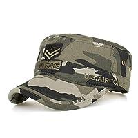 aa8f0c6851d5ce DADKA Unisex Washed Baseball Cap Visors Cotton Military Caps Cadet Caps  Unique Design Vintage Flat Top