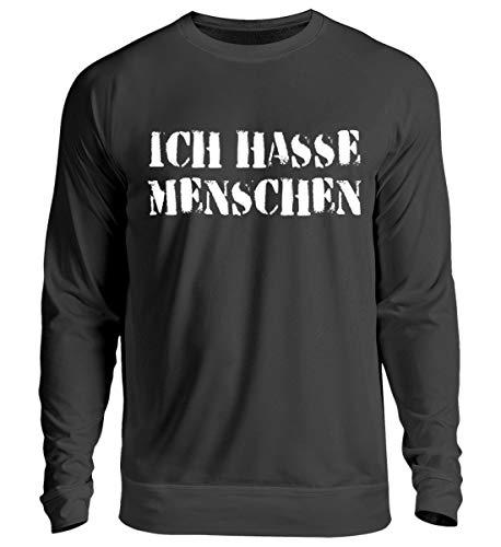 Hochwertiger Unisex Pullover - Ich hasse Menschen Lustiges Spruch Misanthropie Shirt Geschenk