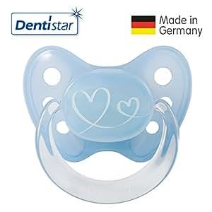 Dentistar® Schnuller 3er Set- Nuckel Silikon in Größe 3, ab 14 Monate - zahnfreundlich & kiefergerecht - Beruhigungssauger für Babys | Standard Edition