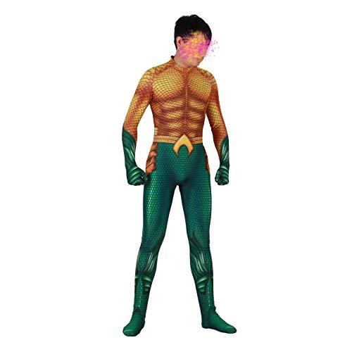 (Yacn Aquaman Orin Bodysuit Kostüm, Arthur Curry Spandex Zentai Overall Overall Cosplay)