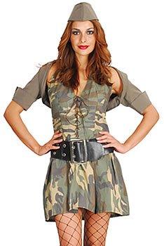 �m Army Girl, Einheitsgröße 36-42 (Army Girl Kostüm Halloween)