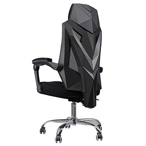 HAOCEG Bürostühle mit Armlehnen und Rückenlehne , Bürodrehstuhl Mit Rollen Und Höhenverstellbarem Ergonomischem Stuhl Einfache Montage im Home Office (Color : Black, Size : Without Ankles)