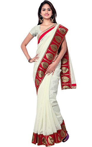 Ethnicjunction Saree (Ej1151-1010_White)