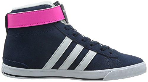 adidas Daily Twist Mid W, Chaussures de Sport Femme, Noir Noir / Blanc / Bleu (Maruni / Ftwbla / Bleu)