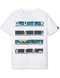 Quiksilver–Camiseta de manga corta, ssclteytreabetw, Niños, Ssclteytreabetw, crema, Grande/talla 14