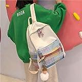 Ins Wind Bag Mujer Lona Coreana High School Campus Mochila Nacional Fan College Bolso De Hombro Marea 1 30 * 13 * 40Cm