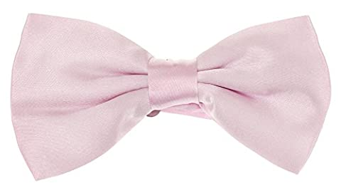 NEW PLAIN COLOURED PRE-TIED BOYS BOW TIES. 20 COLOURS AVAILABLE. WEDDING, FASHION. FREE POSTAGE!!! (LIGHT PINK, BOYS BOW