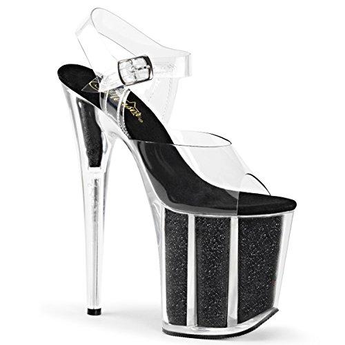 Pleaser FLAMINGO-808G Damen Extrem Plateau Heels, Schwarz, EU 41.5 (US 11) (Pleaser 8-zoll-heels)