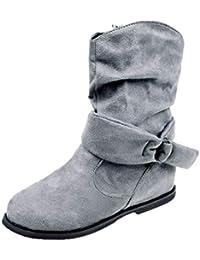 68d64187d Botines Altos de para Mujer Otoño Invierno 2018 Moda PAOLIAN Botas  Terciopelo Chelsea de Charol Zapatos