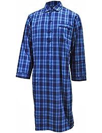 Lloyd Attree & Smith - Chemise de nuit homme - 100% coton - carreaux bleu