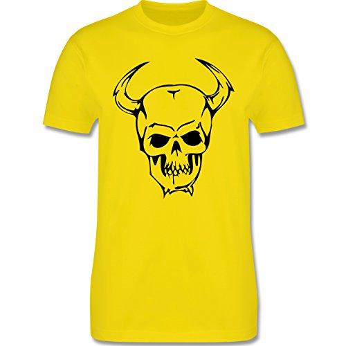 Piraten & Totenkopf - Totenkopf - Herren Premium T-Shirt Lemon Gelb