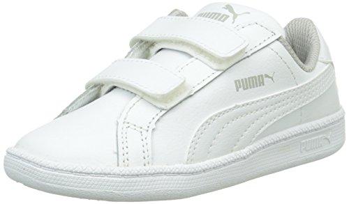 Puma Smash Fun L V, Baskets Basses Mixte Enfant Blanc (White)
