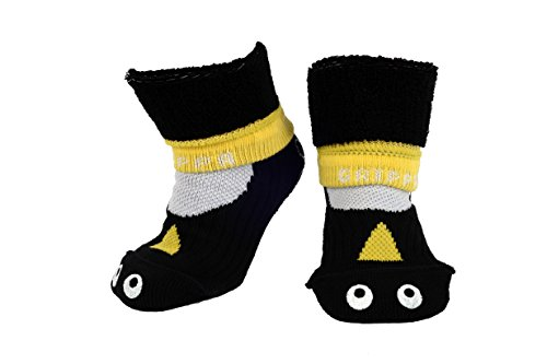 GRIPPA SOCKS PENGUIN kids slipper socks made in Britain, approved by UK's leading foot health experts, Great for childrens feet
