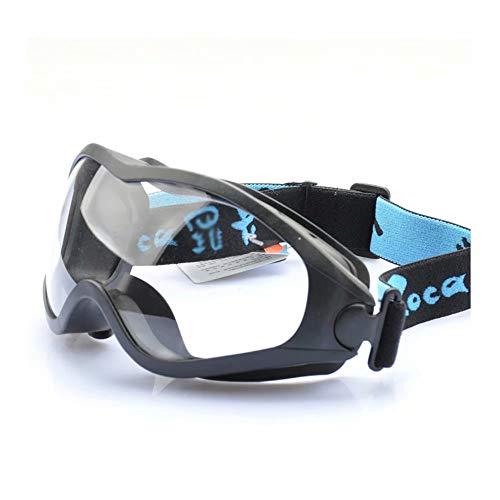 WEIFAN Schutzbrille, staubdichte, sandbeständige Anti-Schock-Schutzbrille mit Anti-Fog-Funktion, chemische Spritzlack-Augenmaske, Schutzbrille, Schwarze Big Box