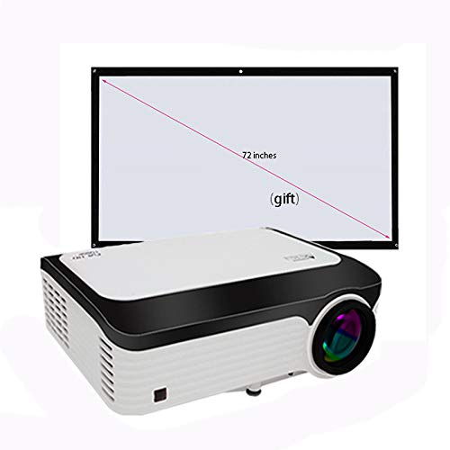 Link Co Full HD 1080P Projektor Dual-Band WiFi-Funktion Bluetooth 4.0 Eingebauter Speicher 16G 2G Stumm Wärmeableitung Mit kostenlosem Projektionstuch