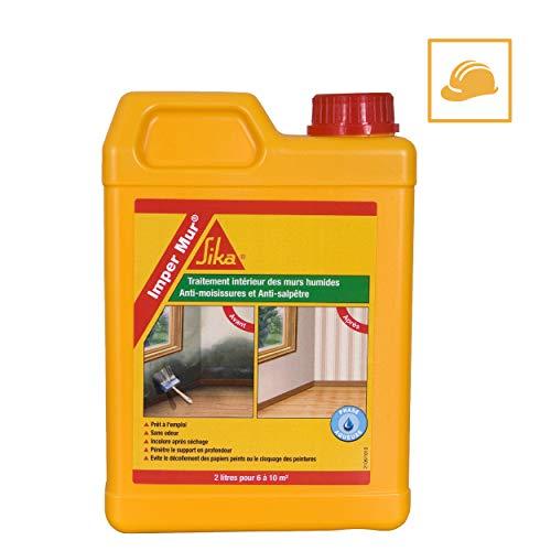Imper Mur, Resine pour traitement des murs humides - anti salpetre - anti moisissures, 2L, Blanc