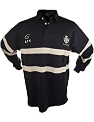 ÉCOSSE MARINE THISTLE BRODÉ LONG MANCHE LIVE FOR RUGBY CHEMISE TAILLES XS - 3XL (XS)