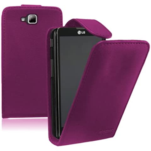 Membrane - Morado Funda Carcasa para LG Optimus L9 II (D605) - Flip Case Cover