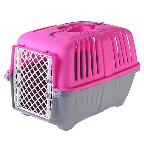 LIRUI Pet Carriers Transportbox Für Hunde Und Katzen. Transportbox Für Haustiere. Tragbarer Käfig. Tragbare Transportbox 47 * 31 * 32CM,Pink(47 * 31 * 32CM) -
