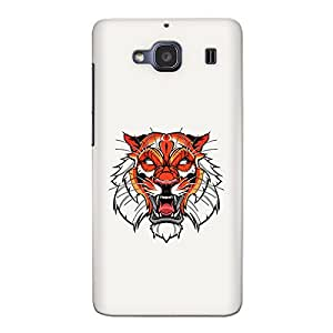 CrazyInk Premium 3D Back Cover for Xiaomi Redmi 2s Prime - Tiger Illustration