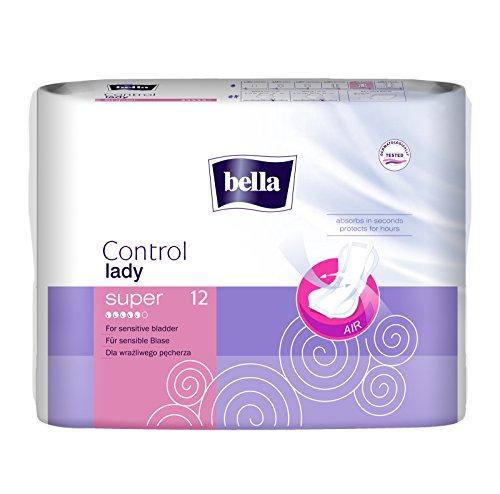 bella Control Lady Hygieneeinlagen super 12 Stück, 4er Pack (4 x 12 Stück)/ für mittlere Blasenschwäche