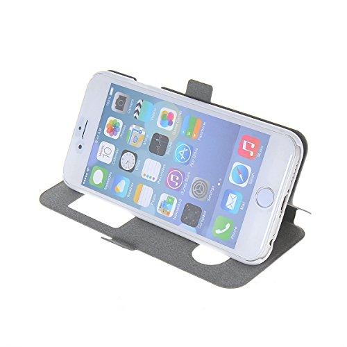 MOONCASE Coque en Cuir Housse de Protection Étui à rabat Case pour Apple iPhone 6 Plus A18132