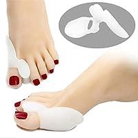 JHKJ Bunion Corrector, Fußpflege Gel Toe Separator Für Hallux Valgus (5 Paare),White preisvergleich bei billige-tabletten.eu