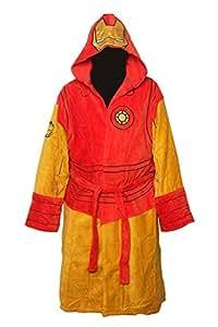 Iron Man Mens Hooded Costume Peignoir de Bain