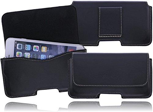 Burkley Slim Line Leder Gürteltasche Holster für das Apple iPhone SE / 5 / 5S Quertasche Seitentasche Swivel mit Gürtelschlaufe und Magnetverschluss in trendigem Vintage Used Look