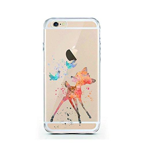 "licaso® iPhone 6 4,7"" TPU Hülle Disney Case transparent klare Schutzhülle Panda Panda-Bär Disney Hülle iphone6 Tasche Cover (Panda 2) Bambi Aquarell"