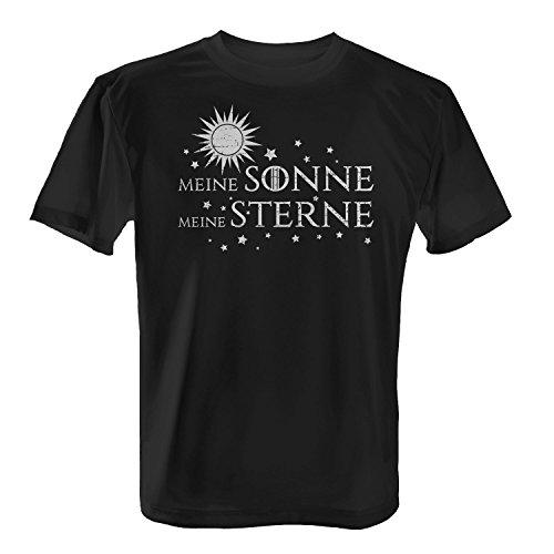 Fashionalarm Herren T-Shirt - Meine Sonne meine Sterne | Fan Shirt zur GoT Serie als Geschenk Idee für verliebte Paare zum Valentinstag & Jahrestag Schwarz
