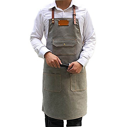 chicmrs-handmade-personalized-logo-customize-genuine-leather-strap-canvas-apron-m-lsize-for-women-ba
