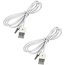 MagiDeal 2pcs 3.5mm AUX Audio Plug Jack A USB 2.0 Cable Convertidor Macho